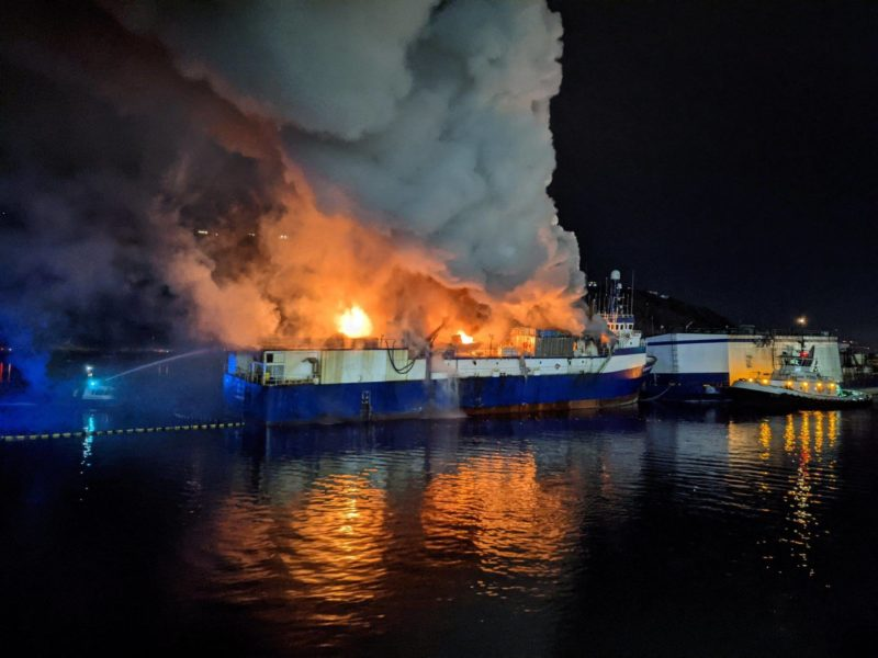 FOSS Emergency Response and Rescue include vessels with firefighting capability